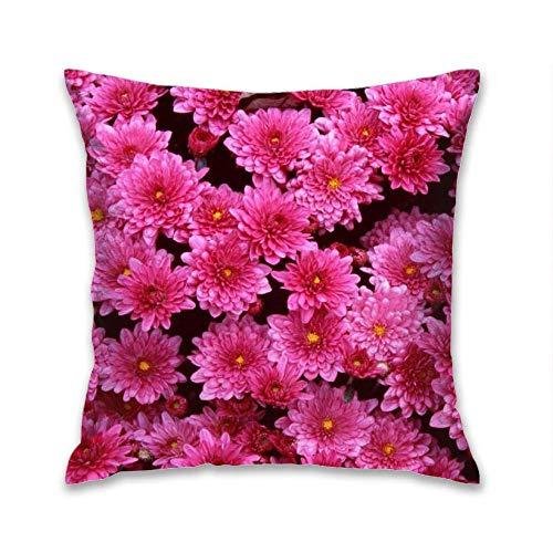 Aoyutiy Kussensloop, decoratieve kussensloop, decoratie vierkant, 18 x 18 inch, kussensloop, bloemen, tumblr