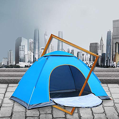 DRGRG Pop Up Tents Dome Canopy Outdoor Waterproof Hiking Camping Tent Anti-Uv Portable 2 Person Ultralight Folding Tent B