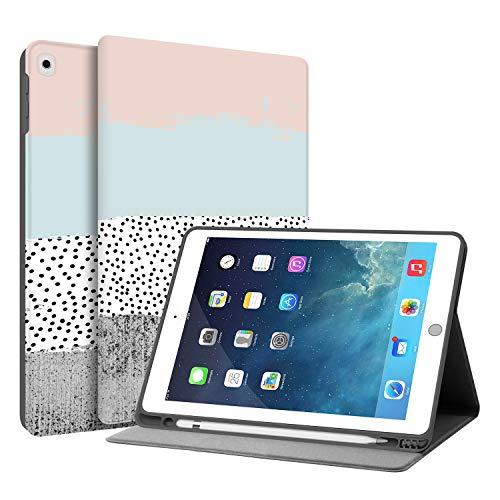 HUASIRU Pintura Caso Funda para iPad Air 1, 2 (9.7 Pulgadas) y iPad 2017 2018 - Porta lápices Incorporado, Colores
