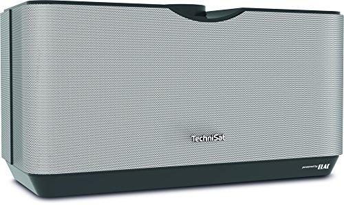 TechniSat AUDIOMASTER MR3 - 90 Watt ELAC WLAN-Lautsprecher und Internetradio (mit UPnP/DLNA Audiostreaming, Multiroom Speaker zum Abspielen von Internetradio, Spotify und Bluetooth) schwarz/silber