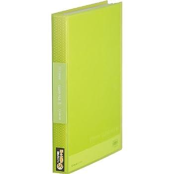 キングジム クリアファイル シンプリーズ A4 60ポケット 黄緑 186-3TSPキミ