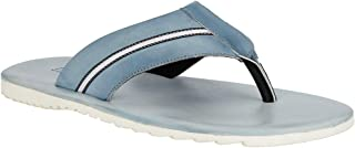 Raymond Solid Light Blue Synthetic Slippers