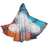 Regen-Tropfen-Tropfen Glas Oberfläche Halloween Umhang Fancy Kapuze Cape mit Kordelzug Adult...