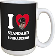 Tree Free Greetings LM45128 I Heart Standard Schnauzers Ceramic Mug with Full-Sized Handle, 15-Ounce