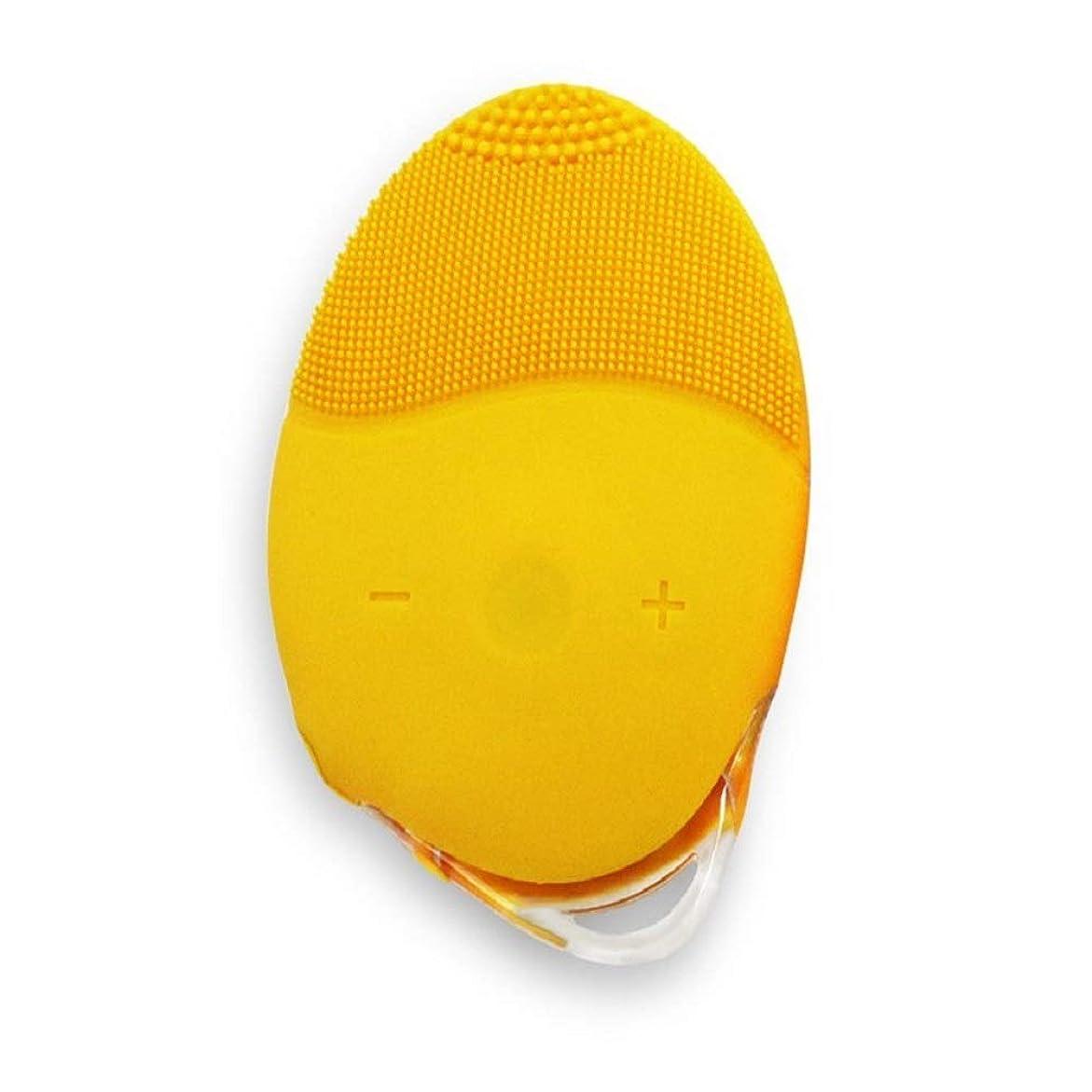 距離無条件再生BTXXYJP 洗顔器 洗顔ブラシ 柔らかい 洗顔 マッサージ にきび 毛穴ケア 黒ずみ 粗い毛穴改善 肌に優しい 耐久性 男女兼用 (Color : イエロー, Size : One Size)