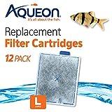 Aqueon 6419 Filter Cartridge, Large, 12-Pack