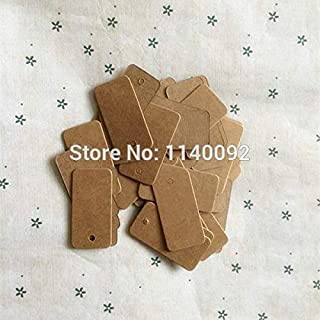 Lysee 2x4cm 1000 pcs a lot Blank 350 GSM Kraft Paper Tags/Customized Jewelry tag/Handmade soap Price tag/Garment Labels