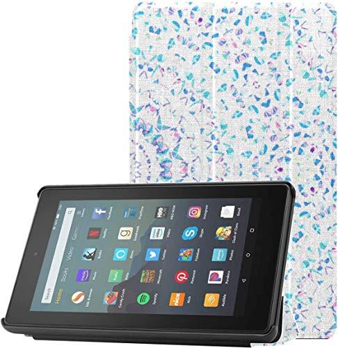 Funda para Tableta Fire de 7 Pulgadas, decoración de Porcelana, Funda para Kindle Infantil para Tableta Fire 7 (novena generación, versión 2019) con Reposo/activación automático