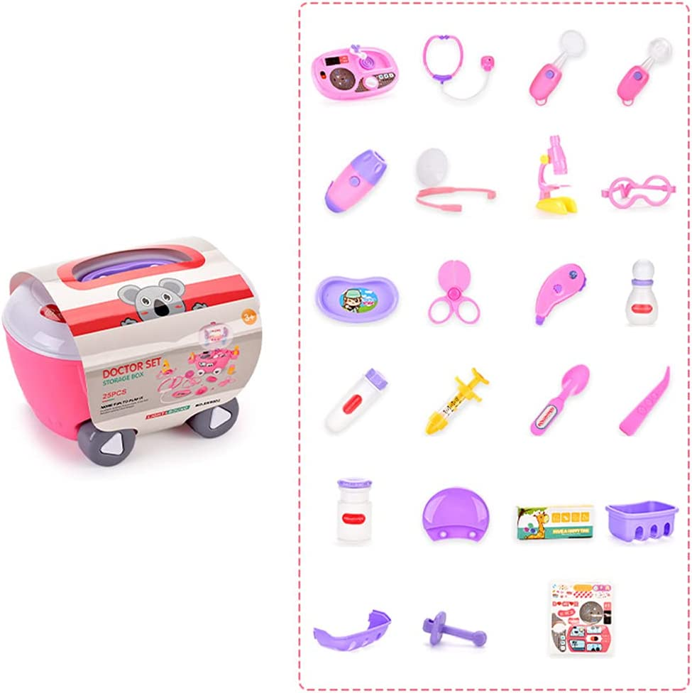 yasu7 NEW Doctor Kit for Kids Pieces Pretend Toy Year-end gift Denti 25