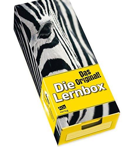 Die Lernbox (DIN A8) - Design: Zebra: Lernbox zum Selbstbefüllen, fertig montiert (Alle Klassenstufen)
