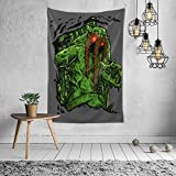 BLACK SP Swamp Man Thing Home Decoration Vintage Hippie Tapestry for Room Wall Hanging Mural Bedroom Living Room Blanket Dormitory Fashion Wall Art 60x40in