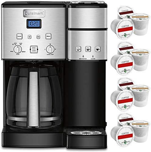 Cuisinart 12 Cup Coffee Maker and Single Serve Brewer Stainless Steel SS 15 Bundle with 12 K product image