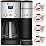 Cuisinart 12-Cup Coffee Maker and Single-Serve Brewer, Stainless Steel (SS-15) Bundle with 12 K-Cup Compatible Sample Pack