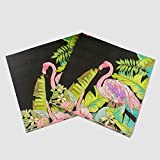 Fournitures de fête WallyE Flamingo, serviettes de découpage Jungle tropicale Aloha Luau Hawaiian Al-Jah,...