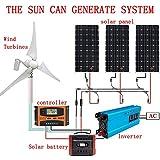 Kit de sistema de energía eólica y solar: turbina...