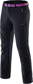 Tofern Womens Winter Softshell Pants Warm Breathable Waterproof Windproof Outdoor Hiking Climbing Camping Cycling Trousers