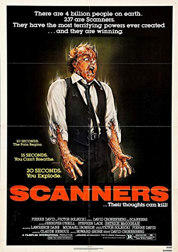 """Scanners 1981 David Cronenberg €"""" Movie Cinema Poster Art Ver. 2Gifts for Fan Lovers Posters No Framed"""