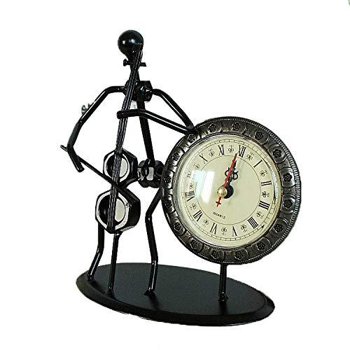 SMAQZ Música Iron Man, Reloj De Música, Reloj Artesanía Decoración Guitarra Eléctrica 15 * 7 * 19 Cm