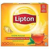 Lipton Black Tea Bags, 100% Natural Tea, 100 ct, 'packaging may vary'