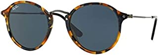 Ray-Ban ROUND FLECK RB 2447 SPOTTED BLUE HAVANA/CLASSIC BLUE GREY unisex Sunglasses
