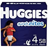 Nighttime Baby Diapers Size 4, 58 Ct, Huggies Overnites