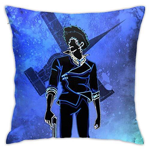 N?A Fronhas de almofada, capa de almofada quadrada macia, decoração de casa, sofá, fazenda, ambos os lados (45,7 x 45,7 cm) - Fullmetal Alchemist Roy Mustang