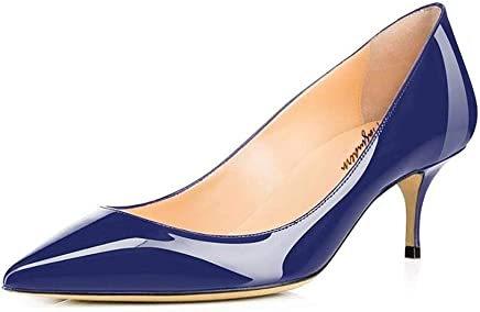 052447b72556 Maguidern Women s Multicolour Patent Leather Pointed Toe 2 1 2 inches Mid- Heels Working