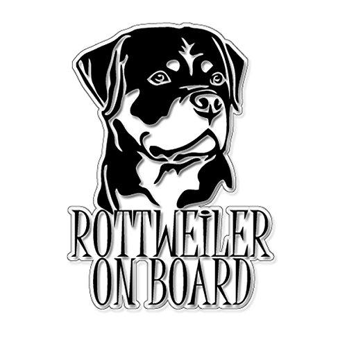 Rottweiler On Board 10 х 14cm Vinyl Decal Auto Anime Sticker Laptop Sticker, Motorrad aufkleber, Auto Deko, Fahrrad Aufkleber, Auto Tuning, Aufkleber Fahrrad, Wohnmobil Aufkleber