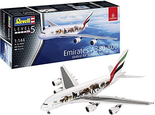 Revell GmbH Revell 03882 3882 - Kit de Modelos de plástico para Airbus A380-800 (Escala 1:144, 1/144), Multicolor