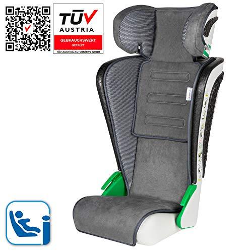 Walser Auto Kindersitz Noemi - Kinderautositz mit höhenverstellbarer Kopfstütze - ECE R129 geprüft - mitwachsend 3-8 Jahre Anthrazit 15600