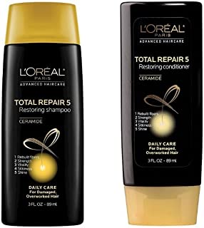 L'oreal Total Repair 5 Restoring Shampoo & Conditioner Daily Care for Damaged, Overworked Hair