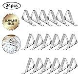 24 Pack Clips de Mantel, Clips de Acero Inoxidable Mantel Pinza para Mantel Cubierta, Ideal para el Hogar, Fiestas, Picnics, Restaurante, Bodas, Buffets, Cenas