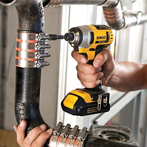 DEWALT - Brush 20V MAX Cordless Drill Combo Kit, 2-Tool (DCK240C2) Yellow/Black Drill Driver/Impact Combo Kit