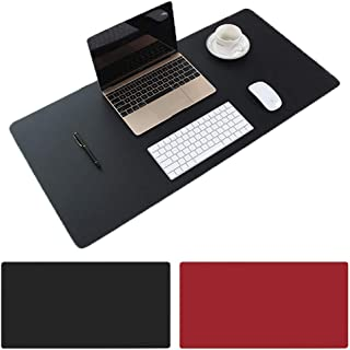 AngKng Large Desk Pad Non-Slip PU Leather Desk Mouse Pad Waterproof Desk Pad Protector Dual-Side Use Desk Writing Mat for ...
