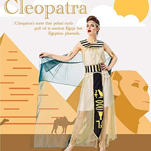 JJAIR Costume dea egizia della Donna, la Regina Cleopatra Costume di Halloween Cosplay Egiziano,XL