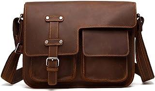 Chliuchihjklstb briefcase, Fashion Men's Bags, Retro Men's Leather Briefcases, Leather Cowhide Handbags, Messenger Bags, M...