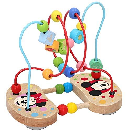 Disney - Juegos de laberintos Abaco infantil Motricidad fina Juguete laberinto madera infantil Juguetes de madera Montessori para niños 1 2 años Juguete laberinto cuentas madera Disney