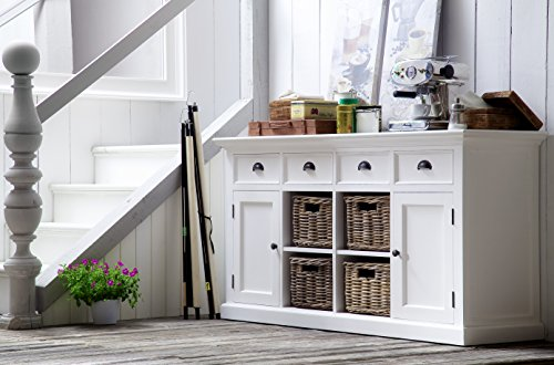NovaSolo-Halifax-Pure-White-Mahogany-Wood-Sideboard-Dining-Buffet-With-Storage-4-Drawers-And-4-Rattan-Baskets