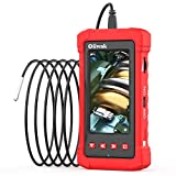 Oiiwak Industrial Endoscope Camera 3.99mm Borescope Camera 1080P HD Waterproof Snake Inspection with 4.3inch IPS Screen 6 LED Lights for Sewer Pipe Plumbing, Car Engine HVAC Throttle Fix (3.5m/11.5ft)