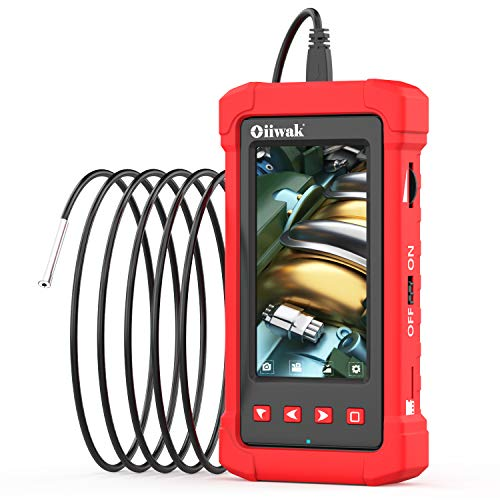 Oiiwak Industrial Endoscope 3.99mm Borescope Camera 1080P HD Waterproof Snake Camera Inspection with 4.3inch IPS Screen 6 LED Lights for Sewer Pipe Plumbing, Car Engine HVAC Throttle Fix (3.5m/11.5ft)