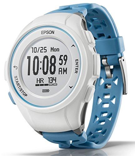 [エプソン] 腕時計 リスタブルジーピーエス GPSランニングウォッチ 脈拍計測 J-50T ターコイズブルー