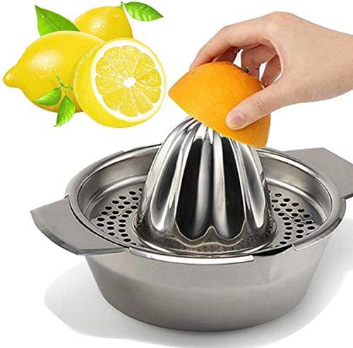 Brilliant roestvrij staal handmatige sapcentrifuge roestvrij staal citroenpers sapcentrifuge met kom sapcentrifuge zeef voor sinaasappels citroenen fruit zelfgemaakt sap in de keuken MEERWEG AANBIEDING