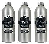 Tesori d'Oriente:'Muschio Bianco' ('almizcle blanco') - Botellas de baño de 16.9 onzas líquidas (500 ml) (paquete de 3) [Importación italiana]