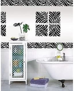 ZEBRA PRINT 16' Removable Sticker Wall Border Stripe Animal Wallpaper Room Decor