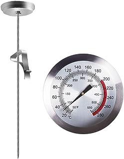 Cabilock Thermomètre de friture avec thermomètre à viande immédiatement lisible pour barbecue de dinde, barbecue de pâtiss...