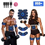 JDASDASF Abs Stimulator Ab Stimulator Muscle Toner Rechargeable Muscle Trainer Ultimate Abs Stimulator