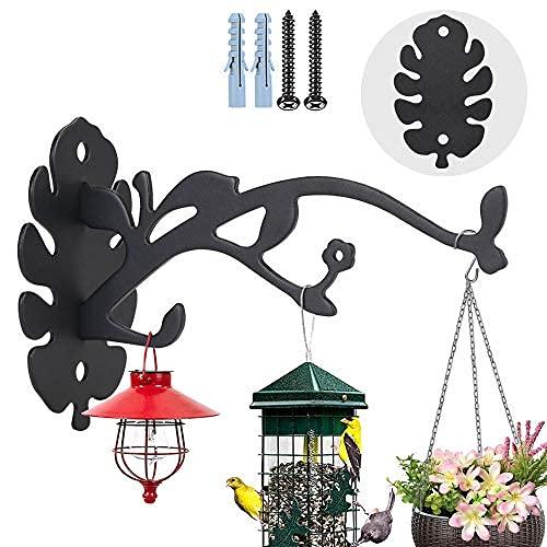 Gancho de pared para colgar plantas, ganchos de pared para macetas, ganchos decorativos para comederos de pájaros, maceteros..