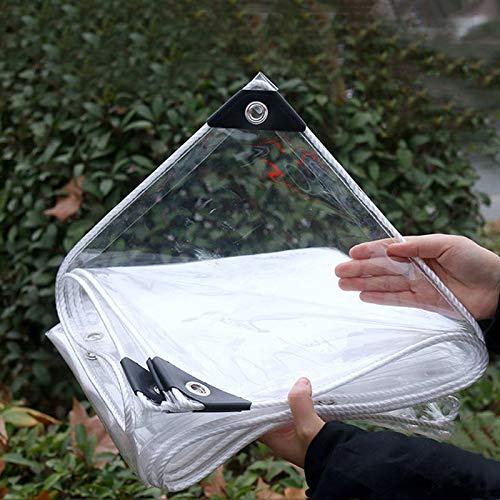 Plane Transparent Wasserdichte Abdeckplane PVC Kunststoffplane Wetterfestes Schutzplane Schutzhaube Vordächer mit Ösen,für...