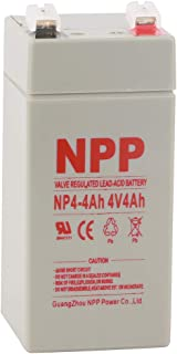 NPP NP4-4Ah 4Volt 4 Amp Rechargeable Sealed Lead Acid Battery