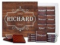 """DA CHOCOLATE キャンディ スーベニア """"男性の名前"""" MALE NAMES チョコレートセット 5×5一箱 (Richard)"""